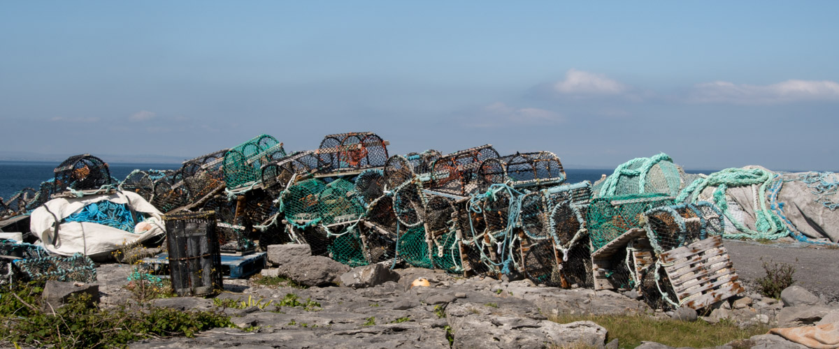 Ireland May 2017, Inisheer, Aran Islands, fishing village, Galway Bay